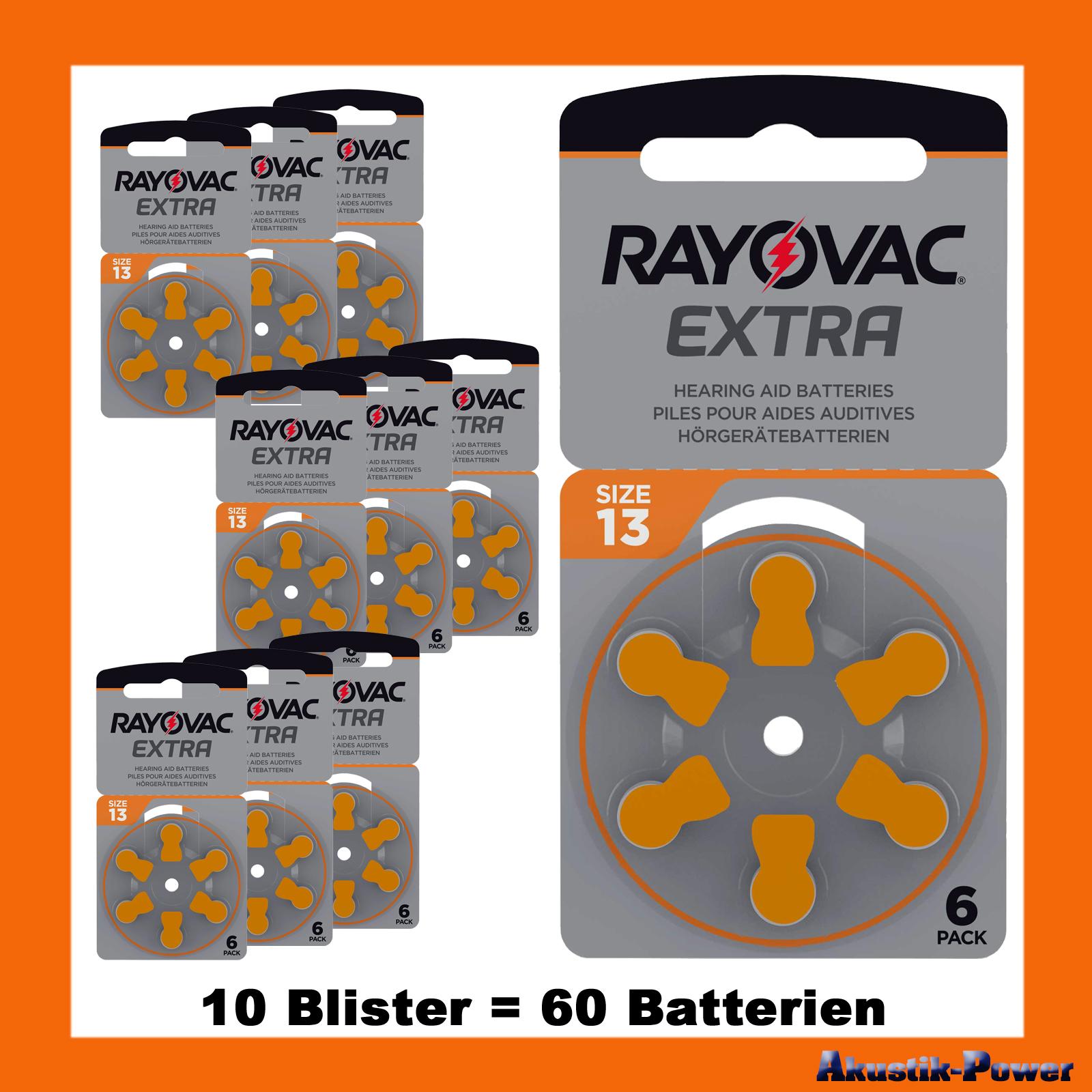 akustik power rayovac typ 13 pr48 h rger te batterien 60 batterien 20 99 online kaufen. Black Bedroom Furniture Sets. Home Design Ideas