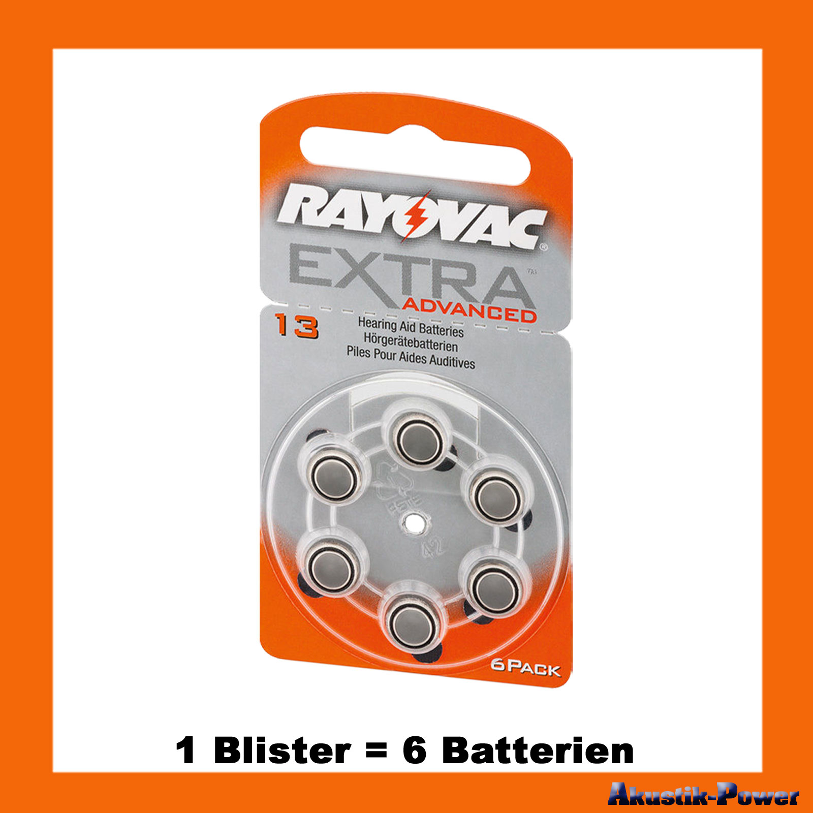akustik power rayovac typ 13 pr48 h rger te batterien 6 batterien 3 19 online kaufen. Black Bedroom Furniture Sets. Home Design Ideas