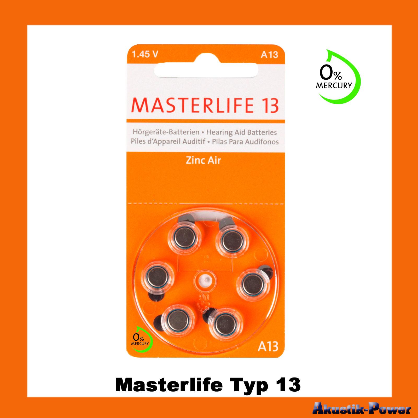 akustik power masterlife typ 13 pr48 orange a13 h rger te batterien online kaufen. Black Bedroom Furniture Sets. Home Design Ideas