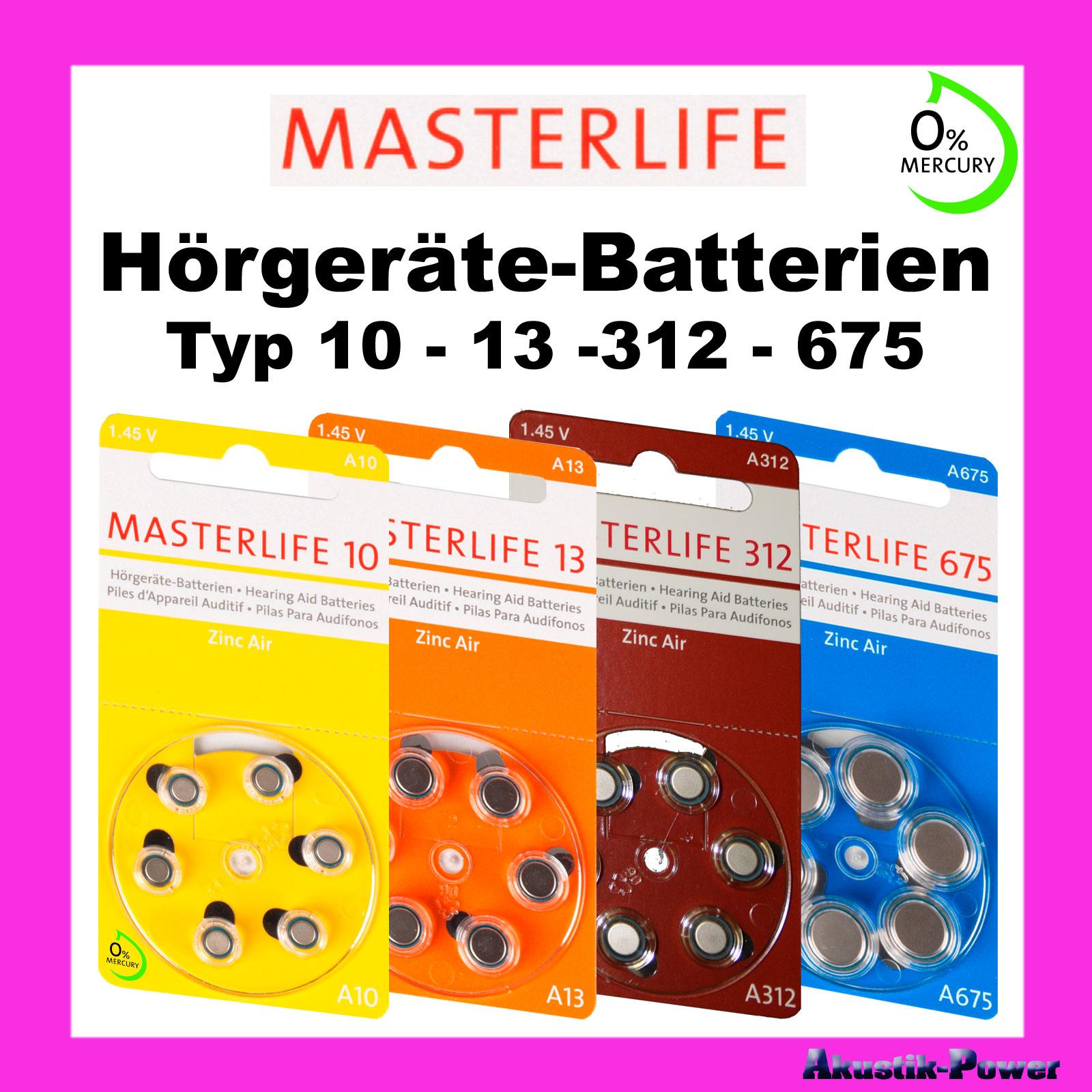 masterlife h rger te batterien typ 10 13 312 675 auswahl mercury free ebay. Black Bedroom Furniture Sets. Home Design Ideas