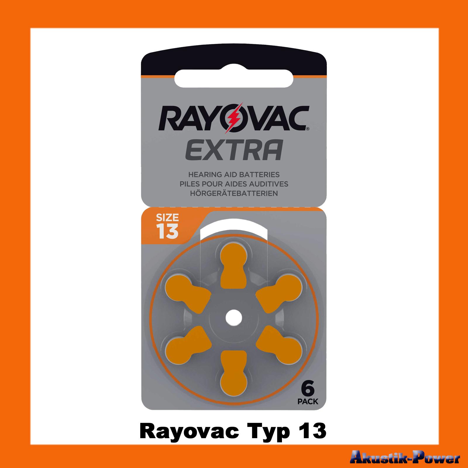 akustik power rayovac typ 13 pr48 h rger te batterien online kaufen. Black Bedroom Furniture Sets. Home Design Ideas